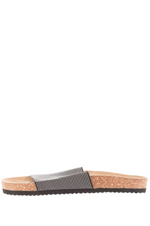 Plus Size - Wide Footbed Slides