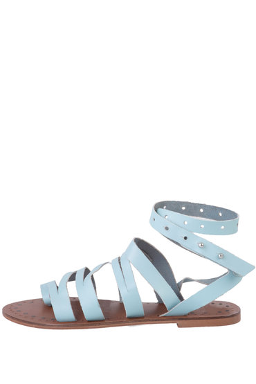 Leather Grecian Wrap Sandal