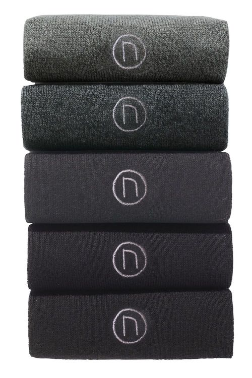 Next Five Pack Grey Socks