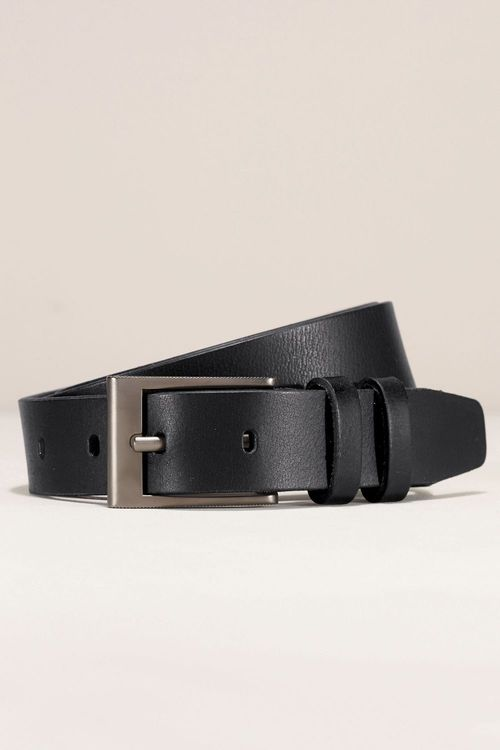 Next Black Leather Smart Belt