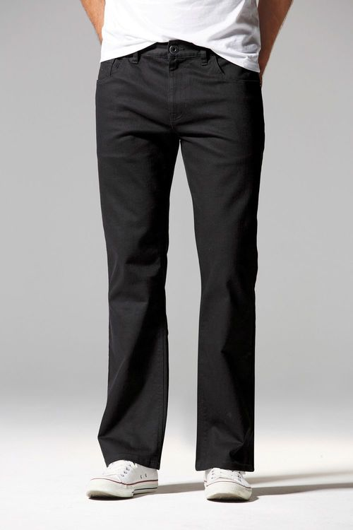 Next Black Jeans With Stretch - Straight Fit