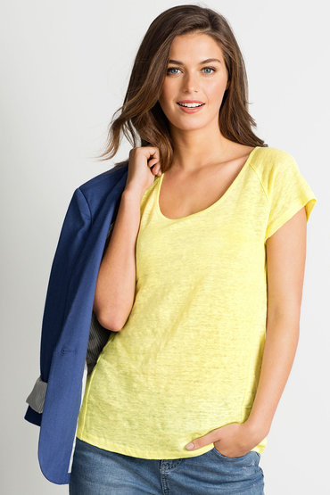 Capture Raglan Linen Top