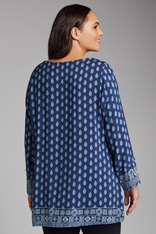 Plus Size - Sara Peasant Blouse