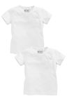 Next Two Pack Plain White T-Shirts (3mths-6yrs)