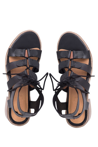 Plus Size - Wide Fit Lace Up Sandal