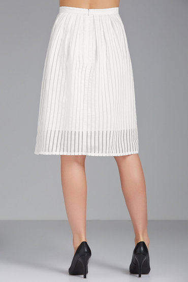Grace Hill Self Stripe Skirt