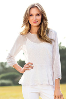 Grace Hill Peplum Blouse