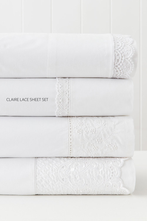 Claire Lace Sheet Set