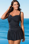 Plus Size - Quayside Woman Twist Skirted Swimsuit