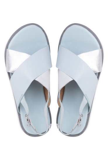 Plus Size - Wide Fit Crossover Slingback Sandal