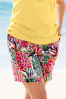 Plus Size - Sara Printed Short