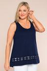 Plus Size - Sara Crochet Tank