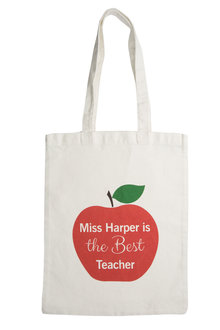 Personalised Tote - Is the best teacher