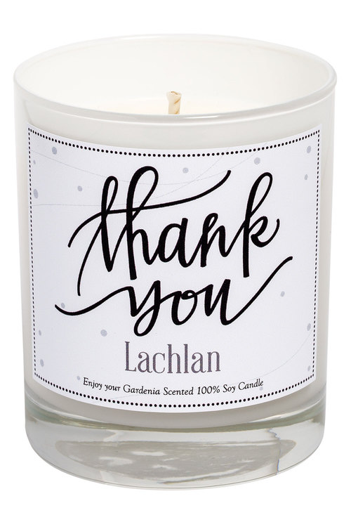 Personalised  Candle - Thank You