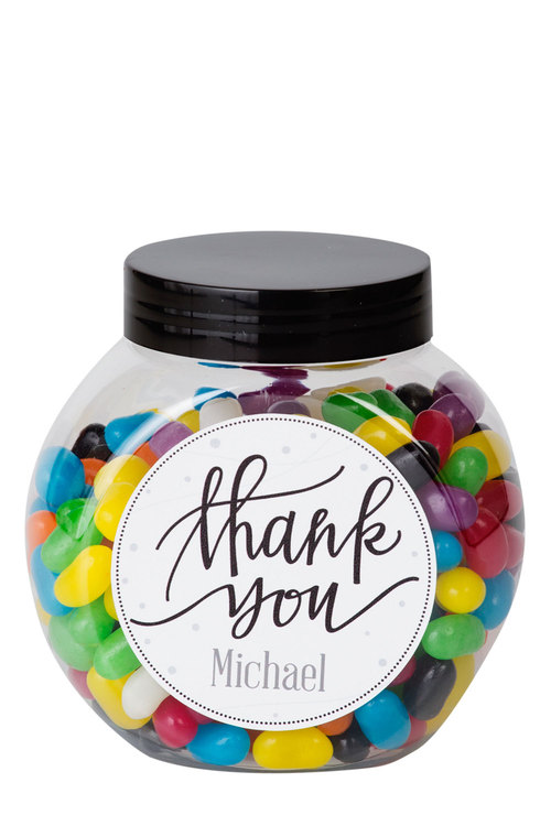 Personalised Lolly Jar - Thank You