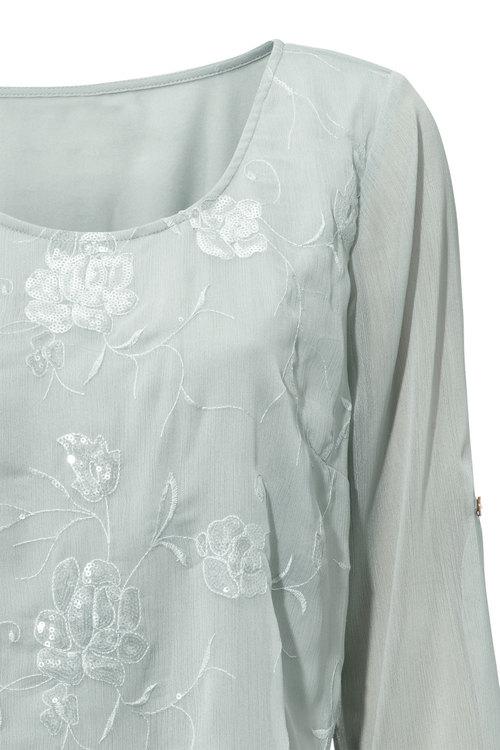 Heine Embroidered Sequin Detail Top