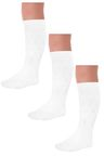 Next Three Pack White Heart Print Knee High Socks (Older Girls)