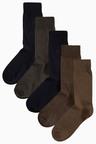 Next Five Pack Brown/Black Socks
