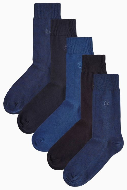 Next Five Pack Navy/Black Socks