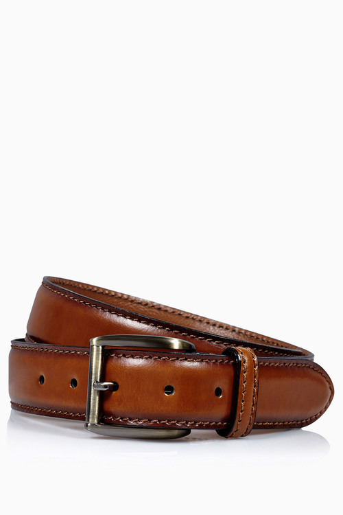 Next Signature Italian Tan Classic Stitch Belt
