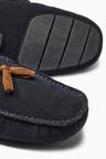 Next Navy Luxury Suede Tassel Moccasin