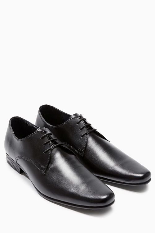 Next Black Plain Lace-Up