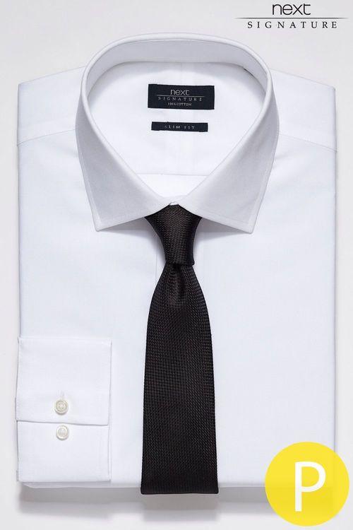 Next Signature White Textured Shirt