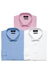 Next Three Pack Pink Blue And White Shirts