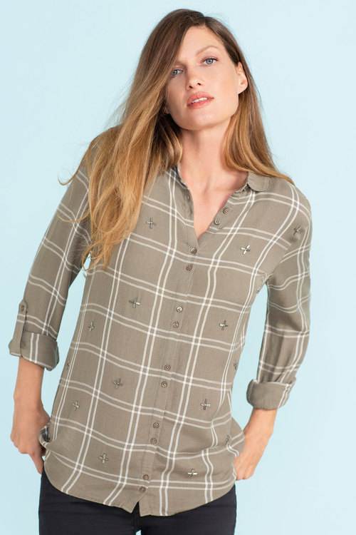 Next Embellished Check Shirt