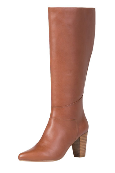 Grace Hill Leather 70's Classic Block Heel Boot