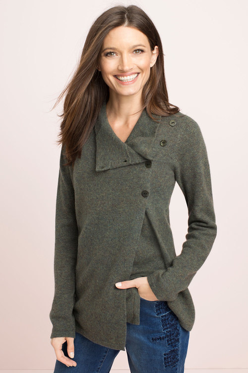 Capture Lambswool Button Cardi