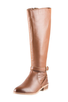 Plus Size - Wide Fit Leather Riding Boot