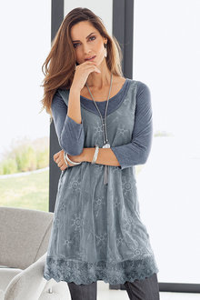 European Collection Lace Tunic