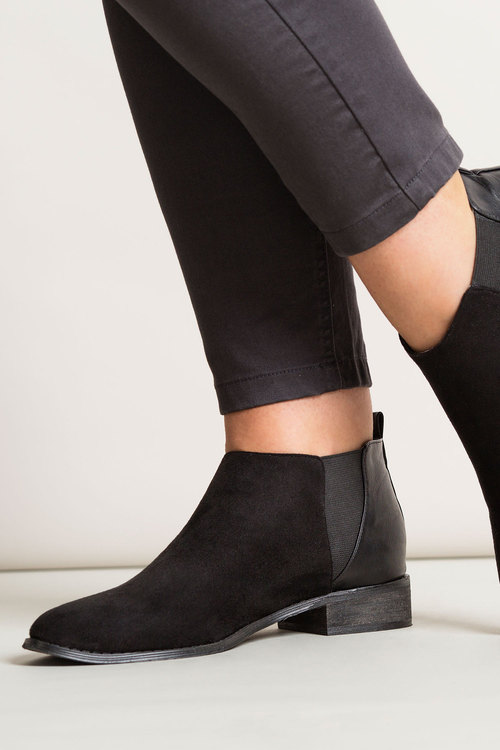 Wide Fit Shorty Ankle Boot