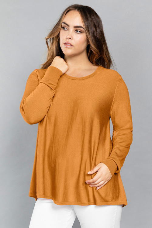 Plus Size - Sara Merino Swing Knit