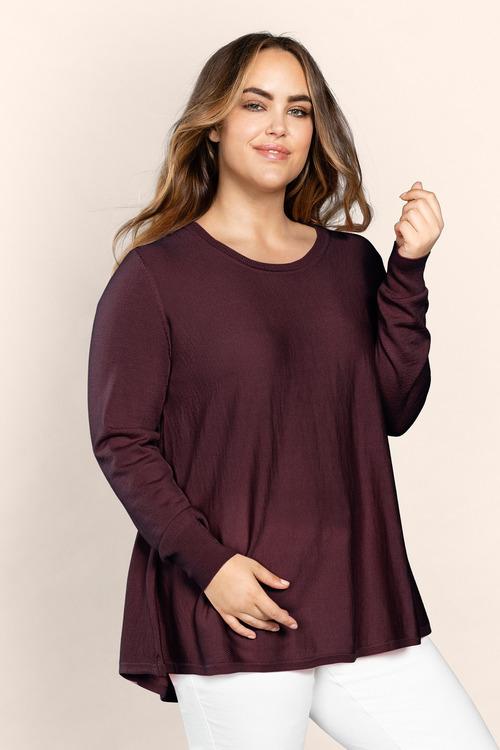 Plus Size - Sara Merino Swing Knit