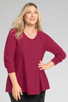 Plus Size - Sara The Merino Swing Knit