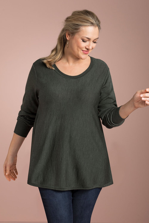 Sara The Merino Swing Knit
