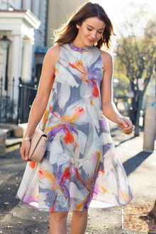 Grace Hill Print Swing Dress