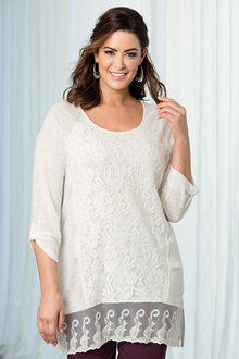 Plus Size - Sara Lace Knit Tunic