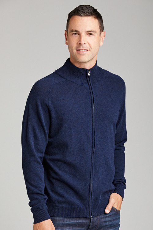 Southcape Lambswool Full Zip Sweater