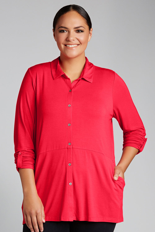 Plus Size - Sara Knit Shirt