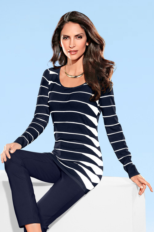 Heine Striped Long Pullover