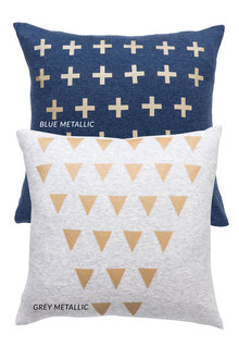 Metallic Cross Cushion