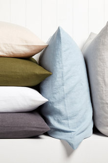 Hampton Linen Euro Pillowcase Pair