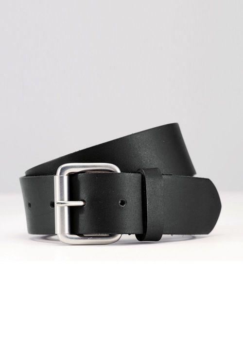 Next Black Leather Roller Buckle Belt