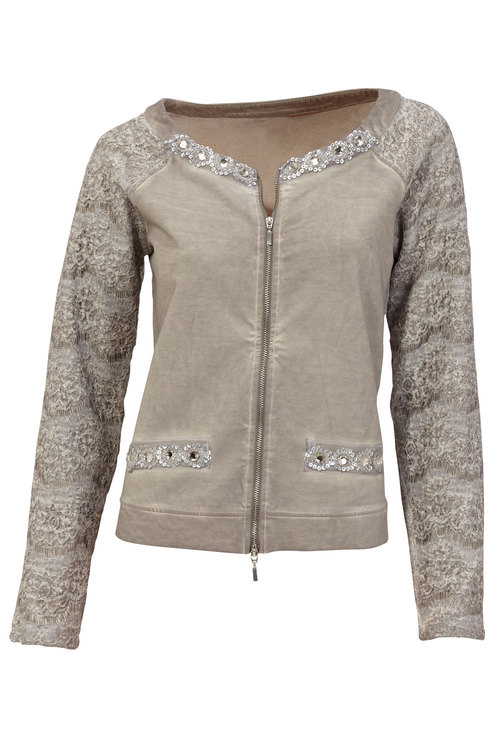 Heine Lace Detail Bomber Jacket