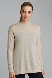 Grace Hill Cashmere Blend Split Back Jumper