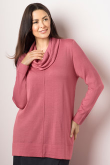 Plus Size - Sara Merino Cowl Neck Tunic