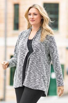 Plus Size - Sara Boucle Knit Jacket - 151419
